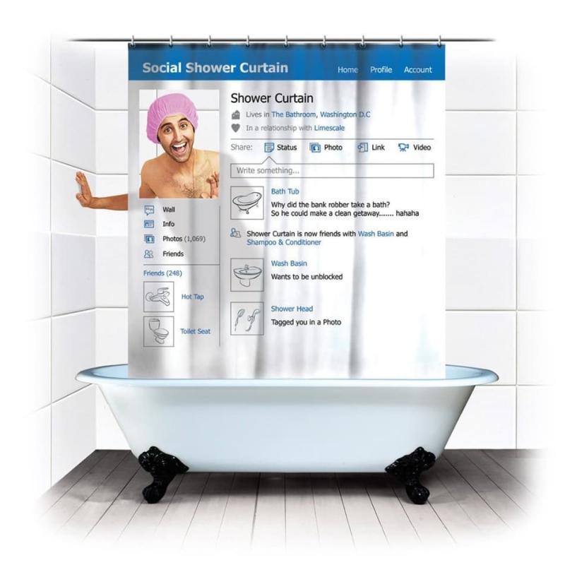 Смешные шторки для ванной 1