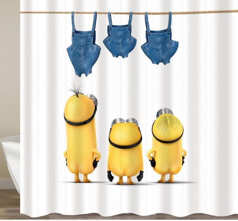 Смешные шторки для ванной 10