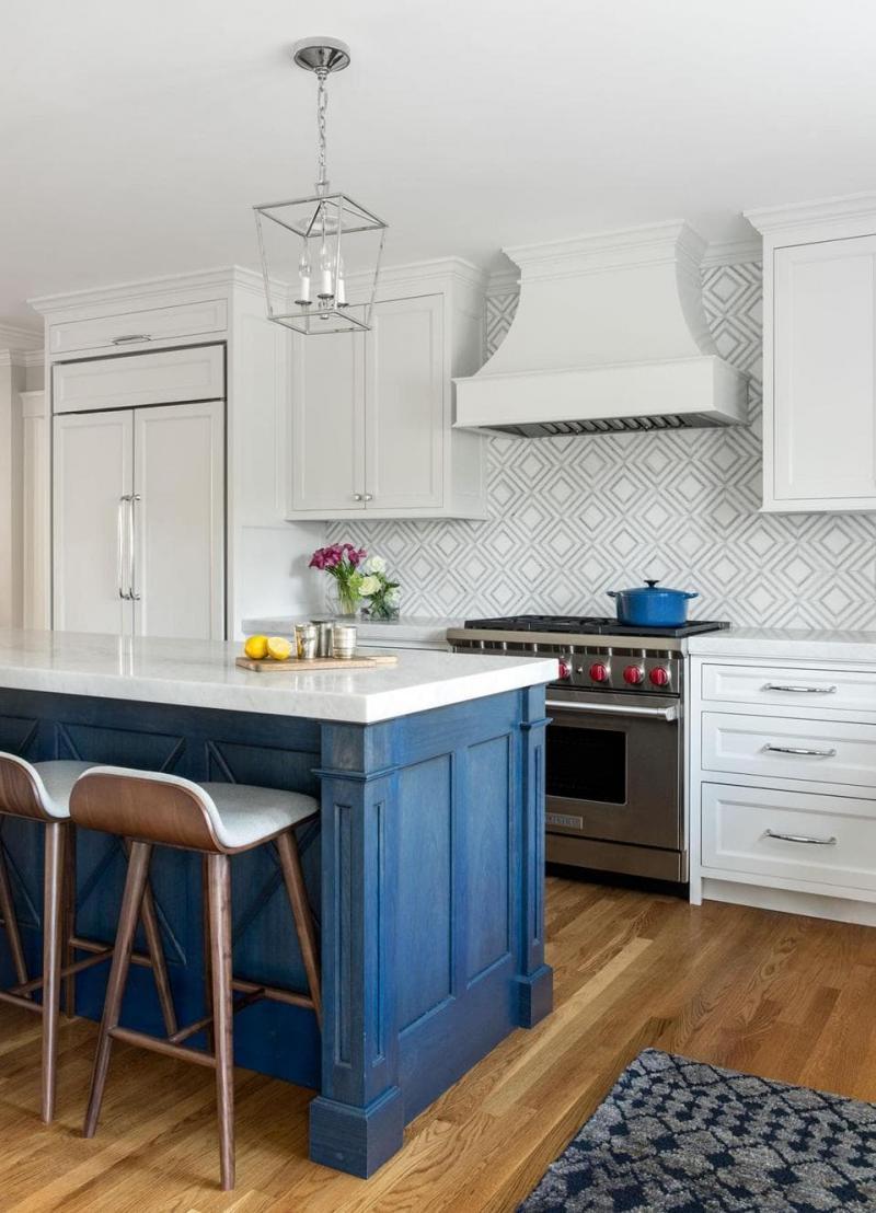 Кухни синего цвета 1
