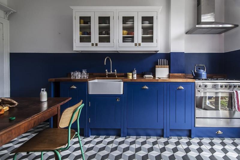 Кухни синего цвета 2