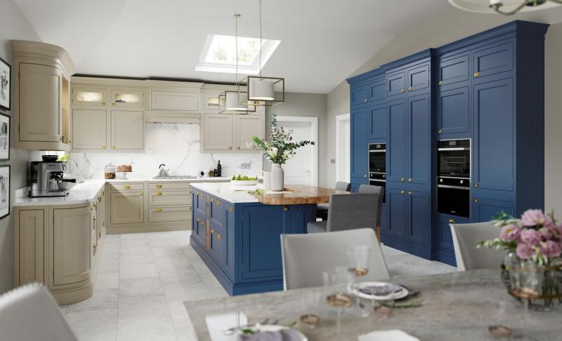 Кухни синего цвета 3