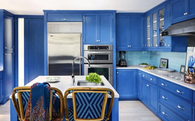 Кухни синего цвета 4