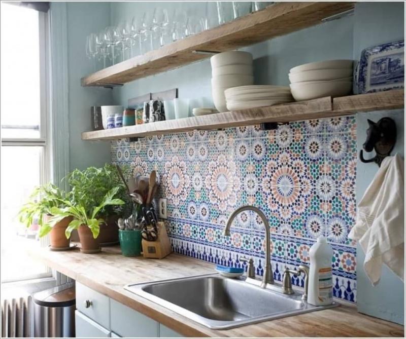 Мароканская плитка в интерьере кухни 3