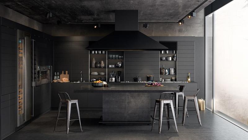 Темный кухонный гарнитур 2