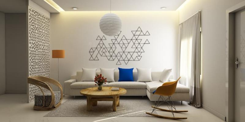 Кресла-качалки в интерьере гостиной 5