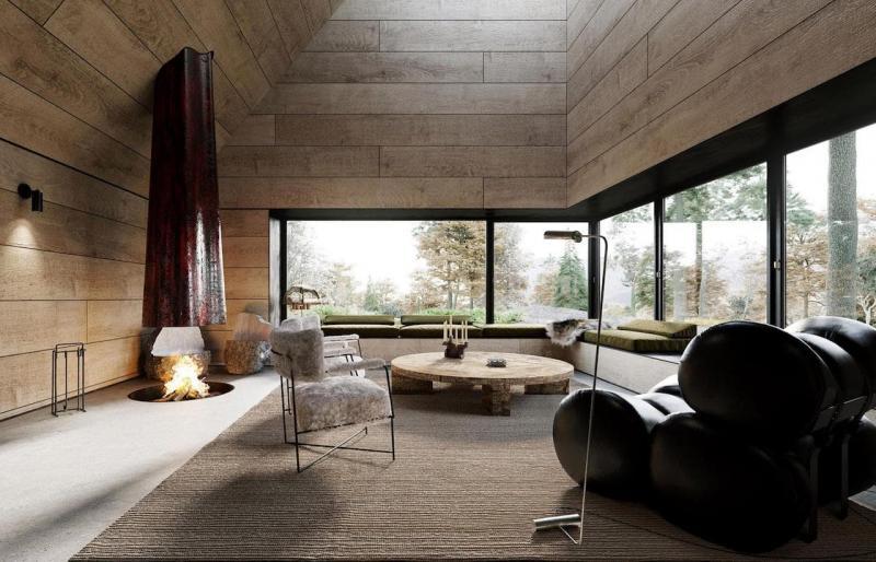 Практичный интерьер гостиной 5