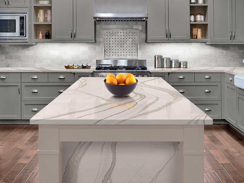 Дизайн кухни с каменной столешницей 1
