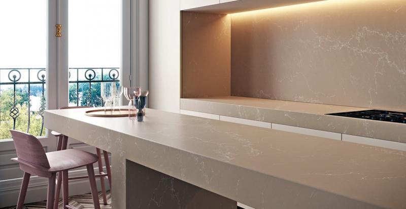 Дизайн кухни с каменной столешницей 3