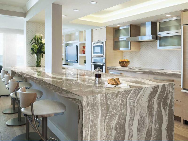 Дизайн кухни с каменной столешницей 7
