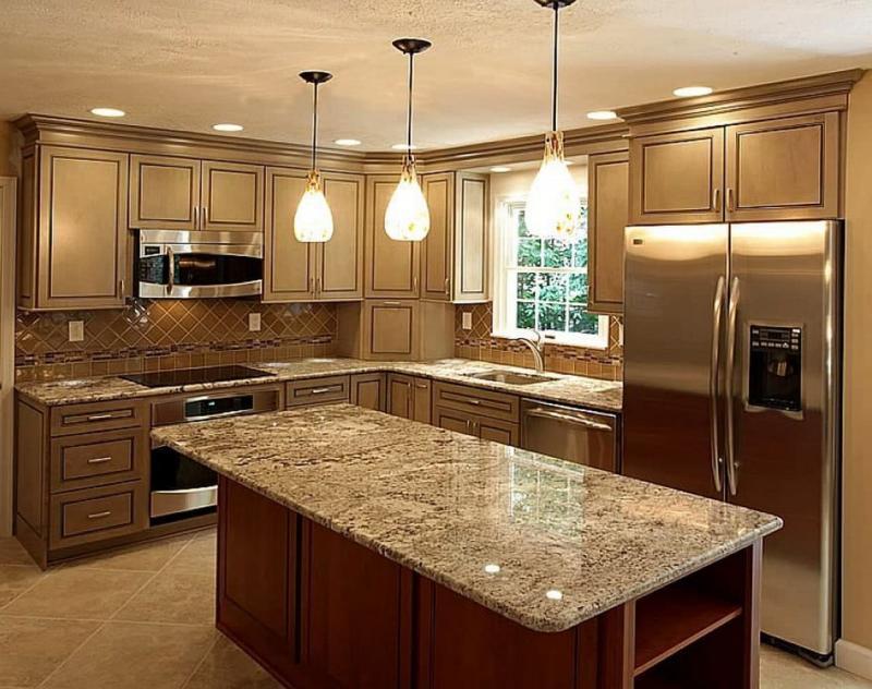 Столешница и камня на кухне 9