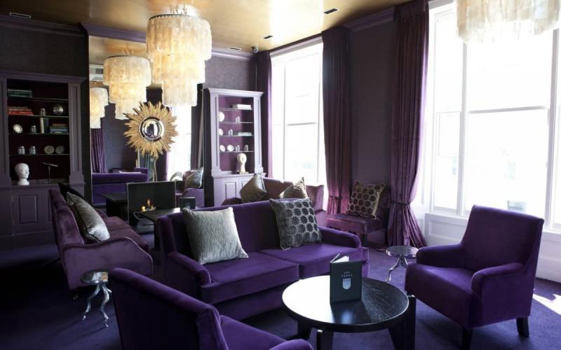 Фиолетовая гостиная 1