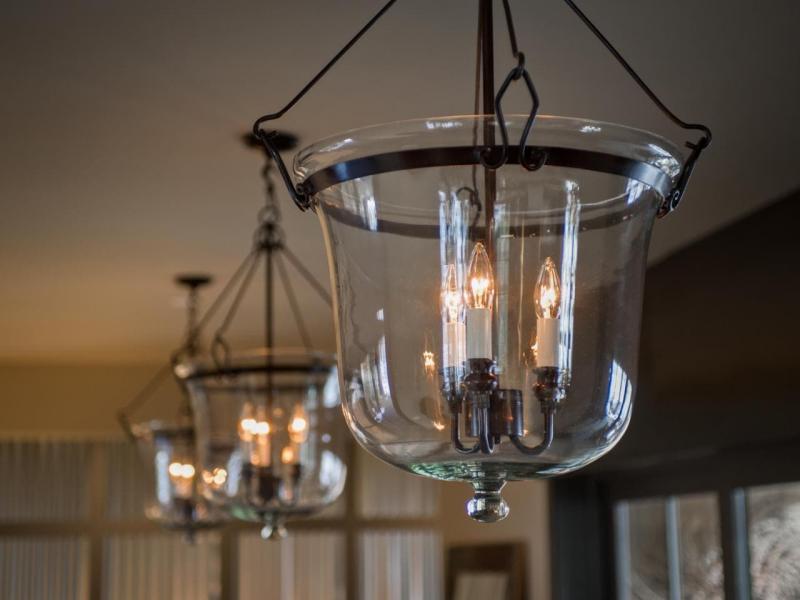 Светильники из стекла в интерьере 2