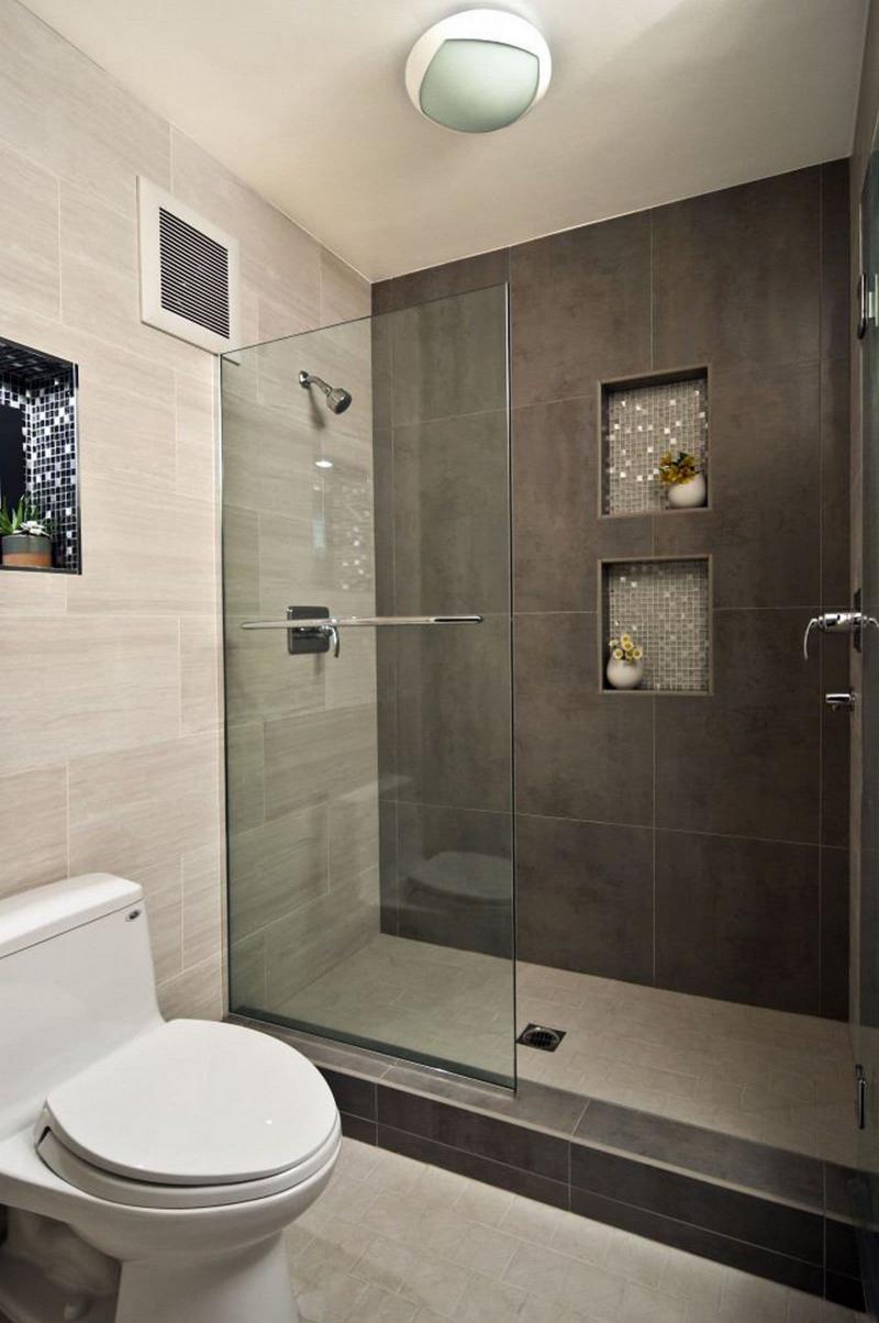 Душевая кабина в интерьере ванной 3