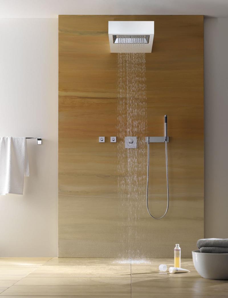 Душевая кабина в интерьере ванной 4