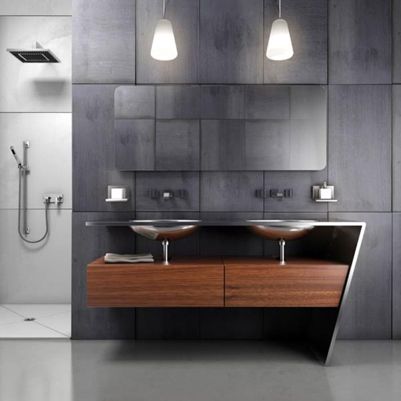 Трюмо в интерьере ванной комнаты 1