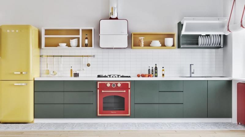 Стиль минимализм в интерьер кухни 1