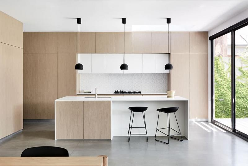 Стиль минимализм в интерьер кухни 2