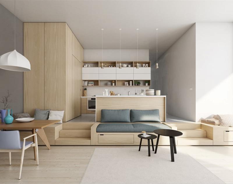 Стиль минимализм в интерьер кухни 4