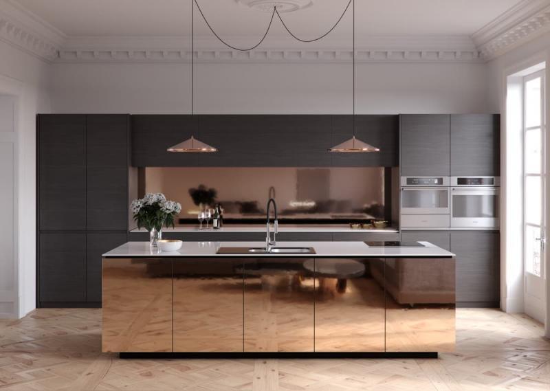 Стиль минимализм в интерьер кухни 6