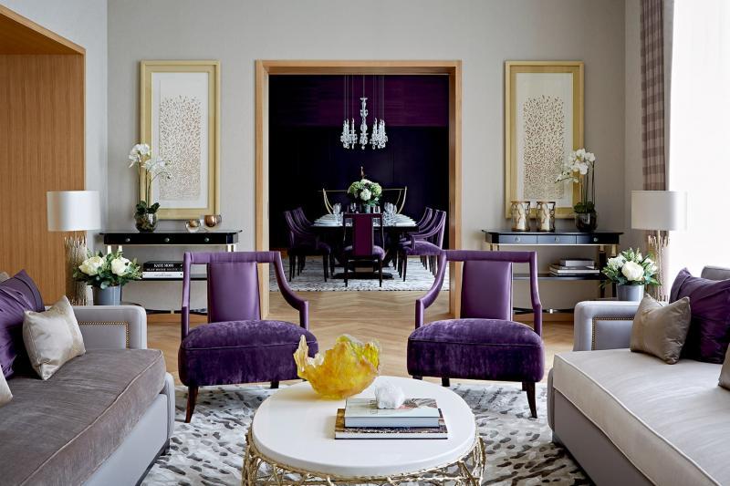 Стильный интерьер гостиной 1