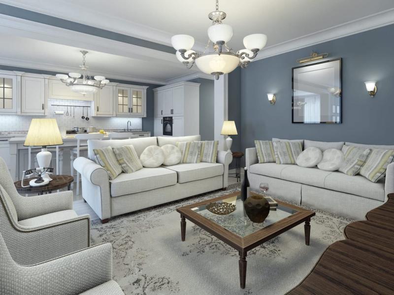 Стильный интерьер гостиной 5