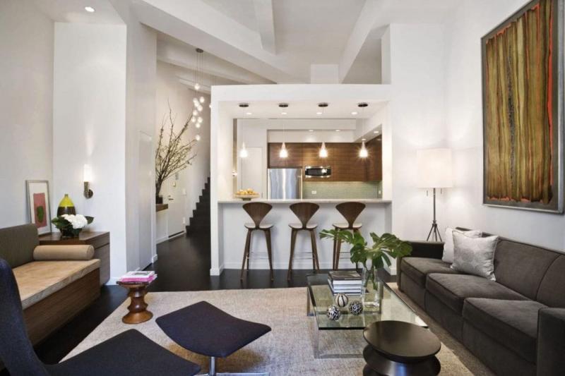 Стильный интерьер гостиной 8