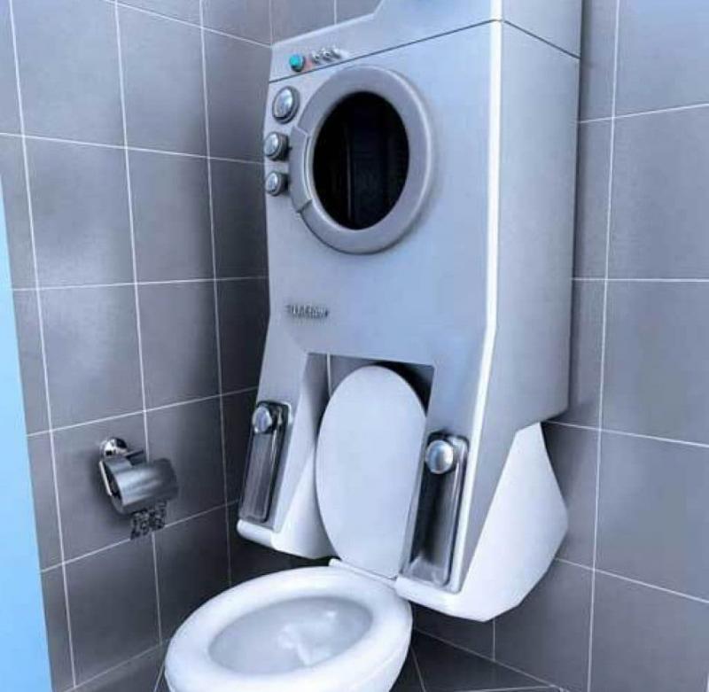 Стиральная машина в интерьере ванной (инновация) 1