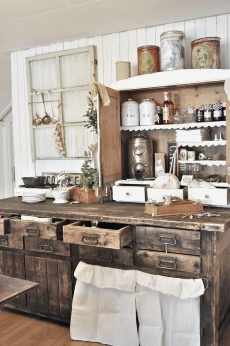 Дизайн маленькой кухни в прованском стиле 9