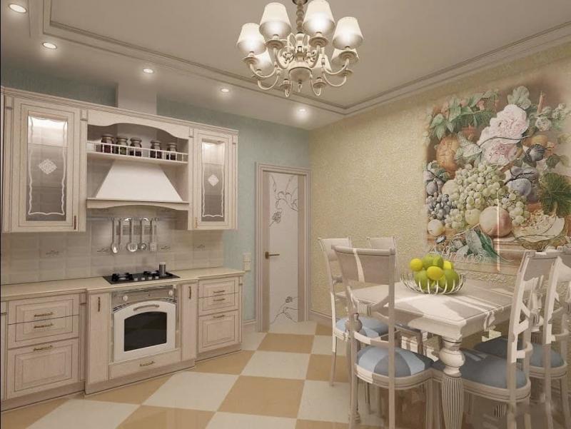 Маленькая кухня в стиле прованс 5