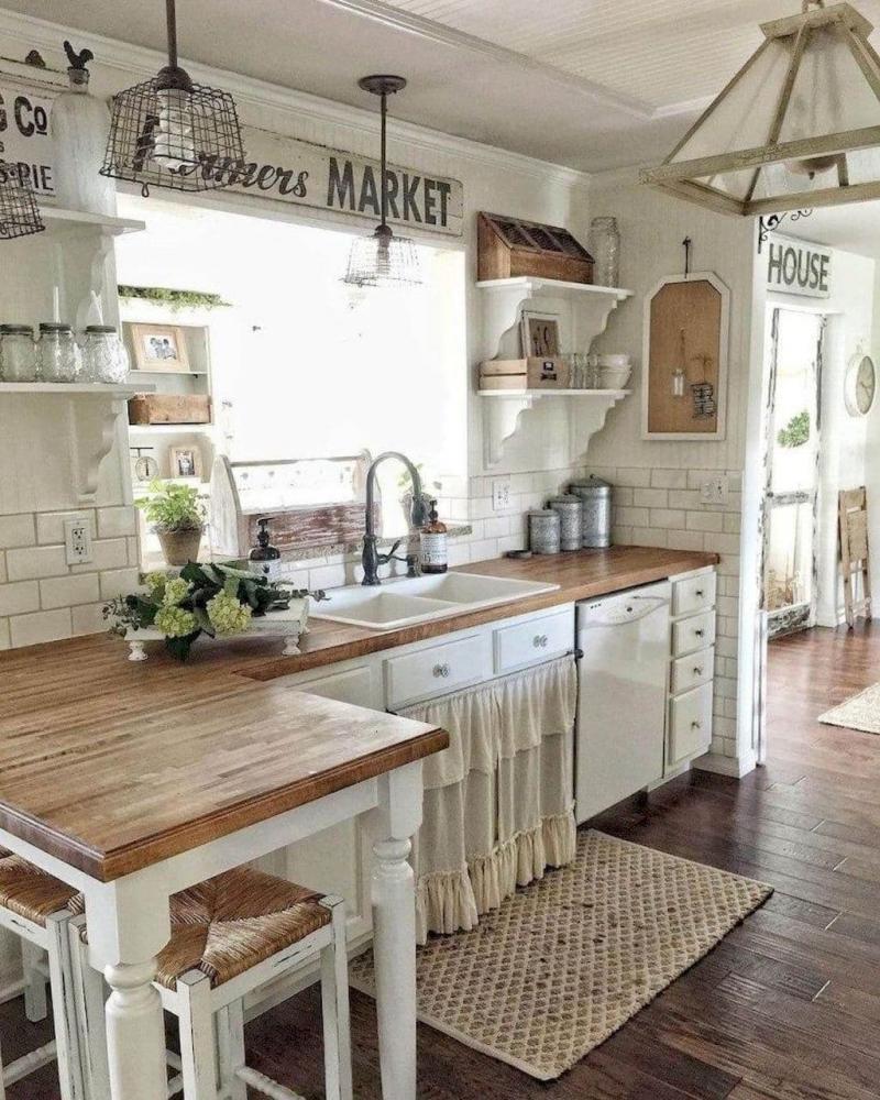Маленькая кухня в стиле прованс 6