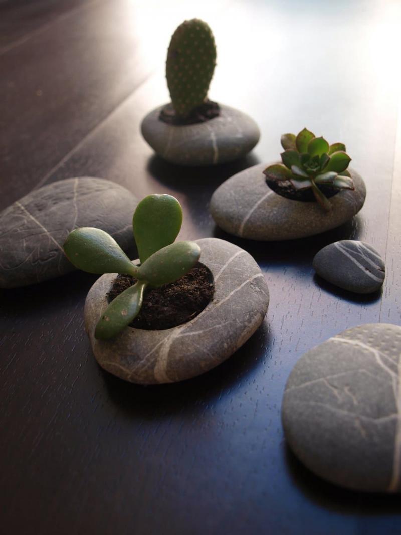 Цветочные горшки из камня 1