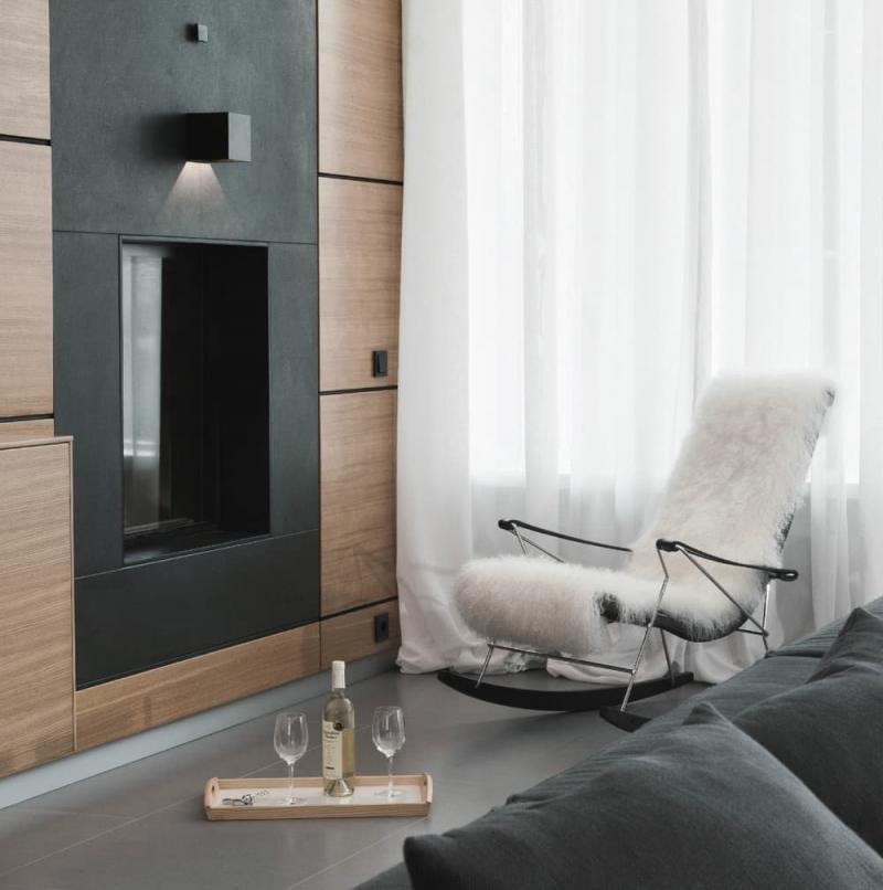 Кресло-чалка в интерьере 1