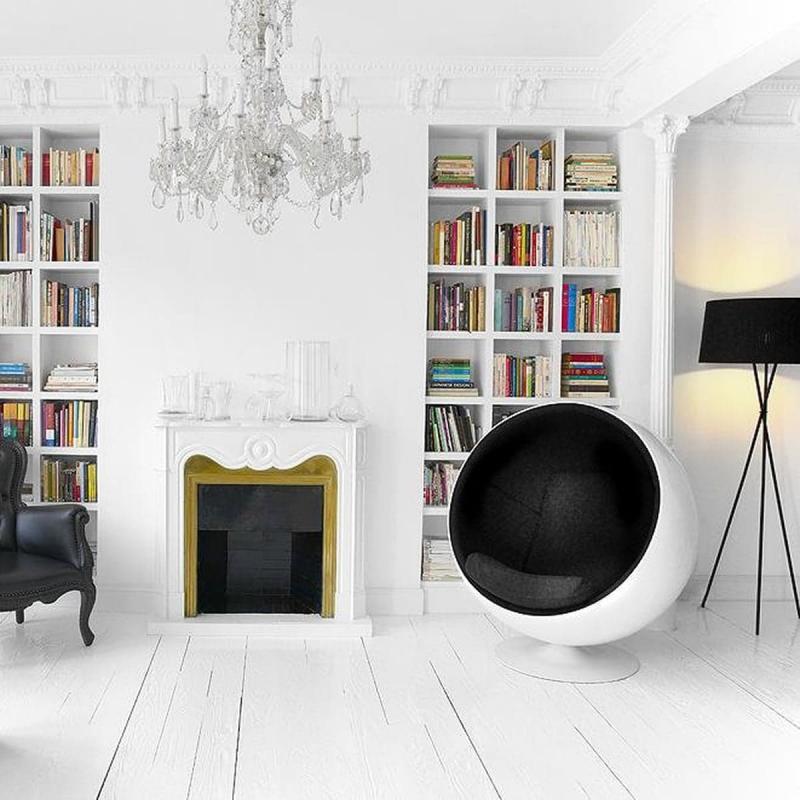 Кресло-шар в интерьере 2