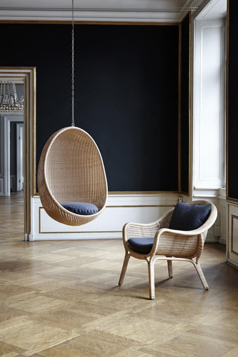 Подвесное кресло в интерьере 1