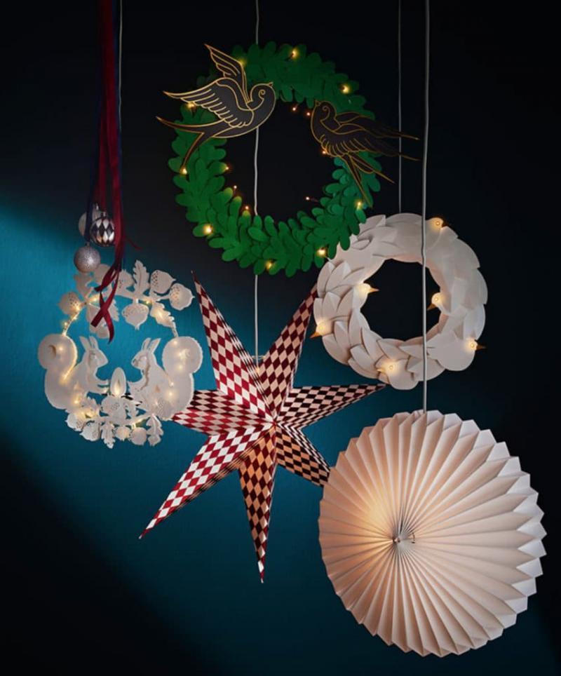 Декоративный новогодний светильник Икеа 2