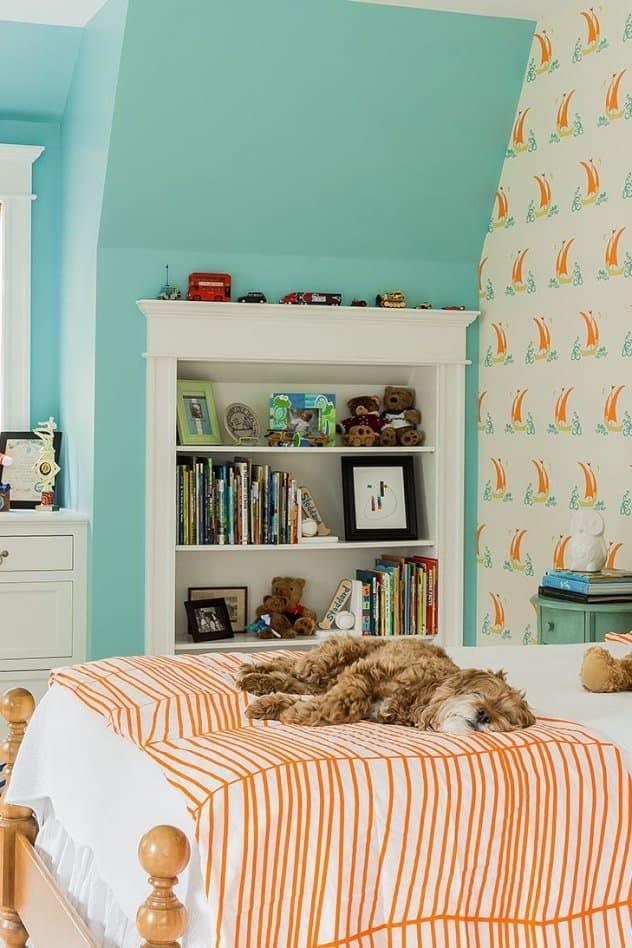 Голубой цвет в комнате мальчика