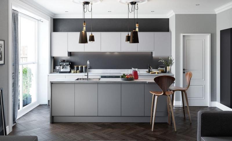 Фасады для кухни 2019 матовые 1