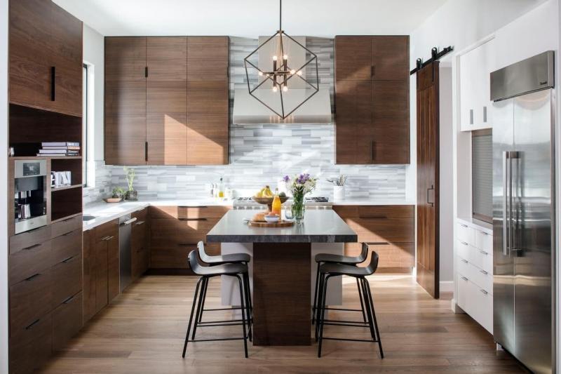Кухонный гарнитур для куни 2019 натуральное дерево 1