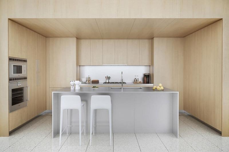 Кухонный гарнитур для куни 2019 натуральное дерево 2