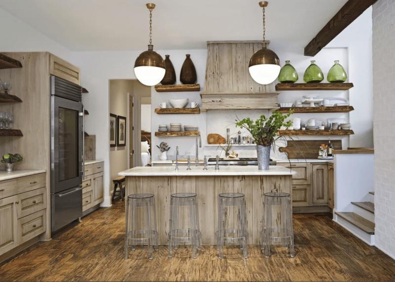 Кухонный гарнитур для куни 2019 натуральное дерево 3
