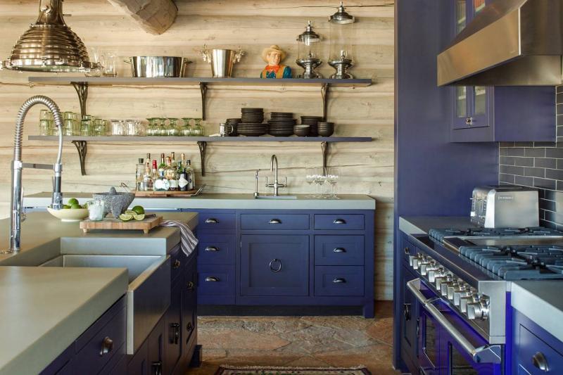 Кухонный гарнитур для куни 2019 синий 1