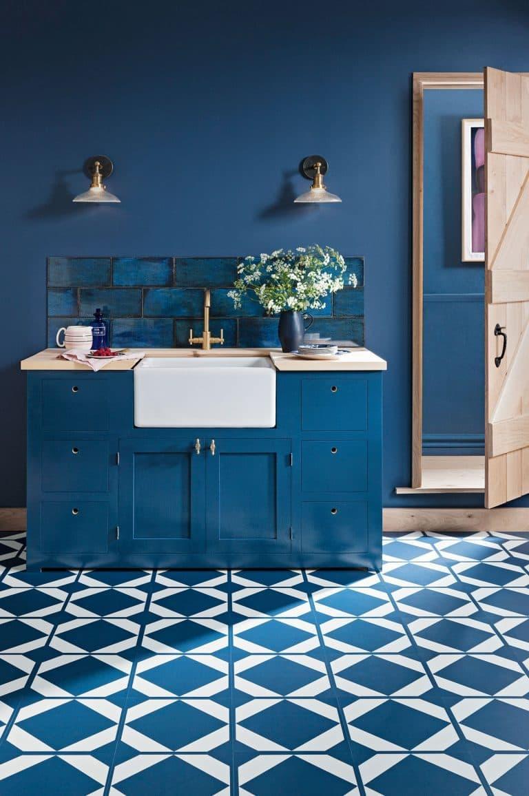 Кухонный гарнитур для куни 2019 синий 2