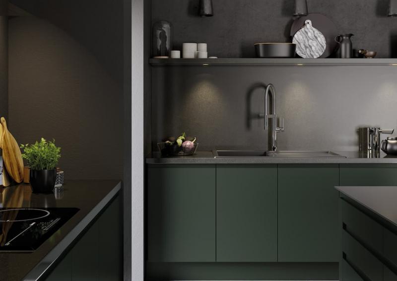 Кухонный гарнитур для куни 2019 темный 1
