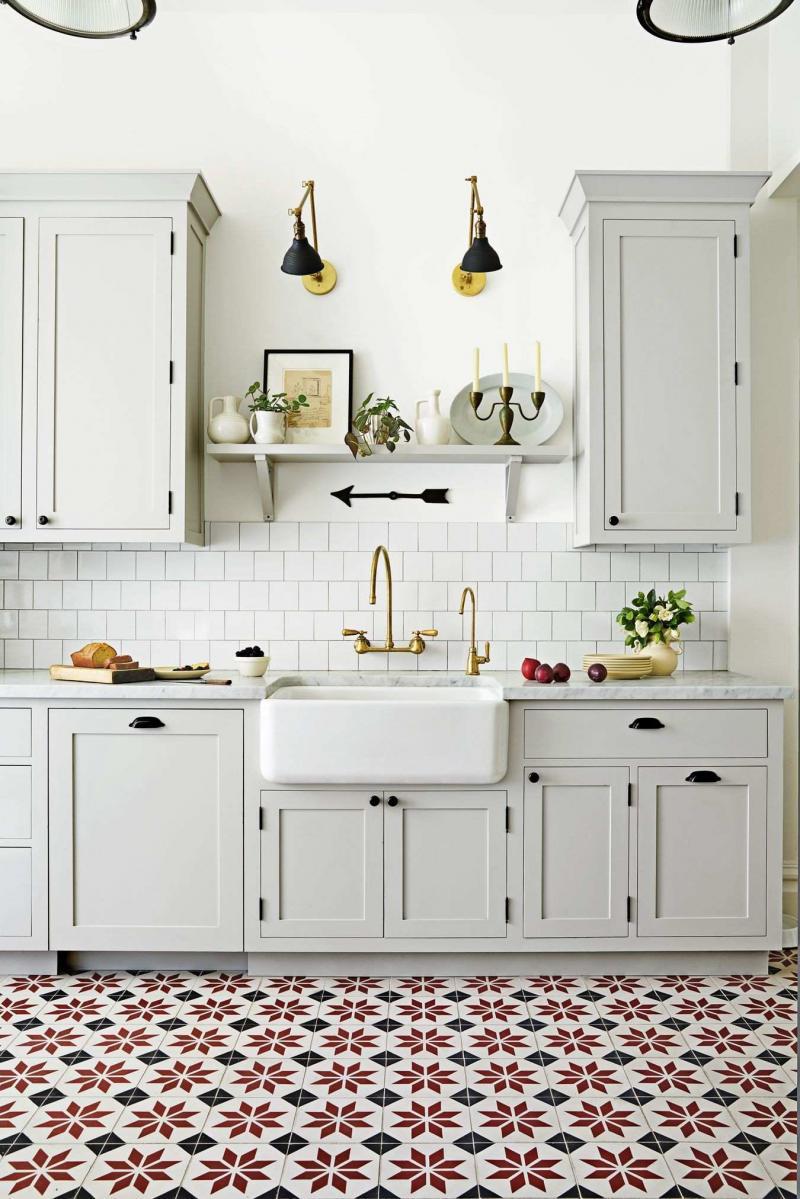 Напольное покрытие для кухни 2019 3