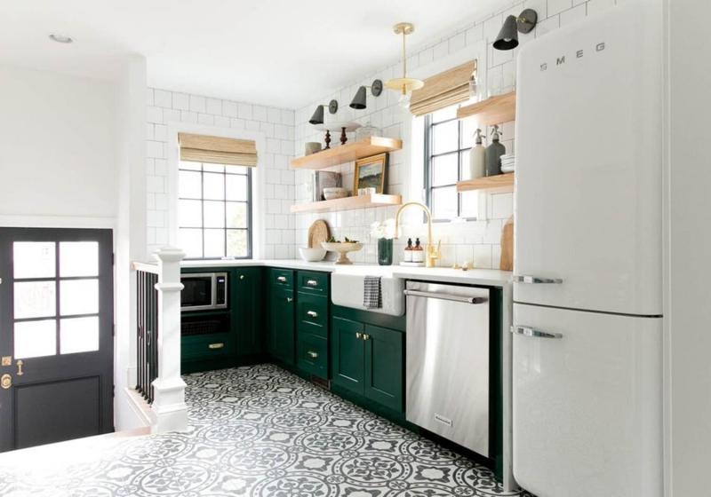 Напольное покрытие для кухни 2019 4