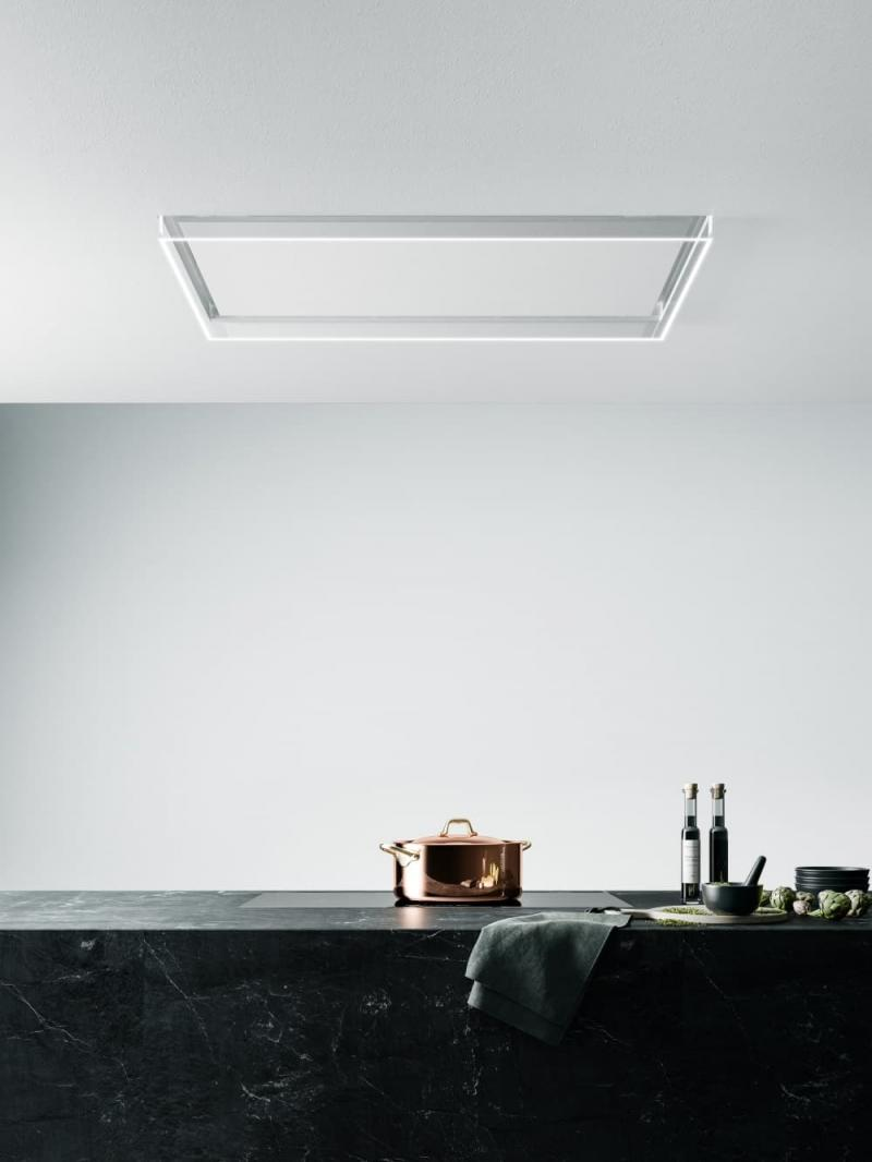 Потолочная стеклянная вытяжка для кухни 2019 1