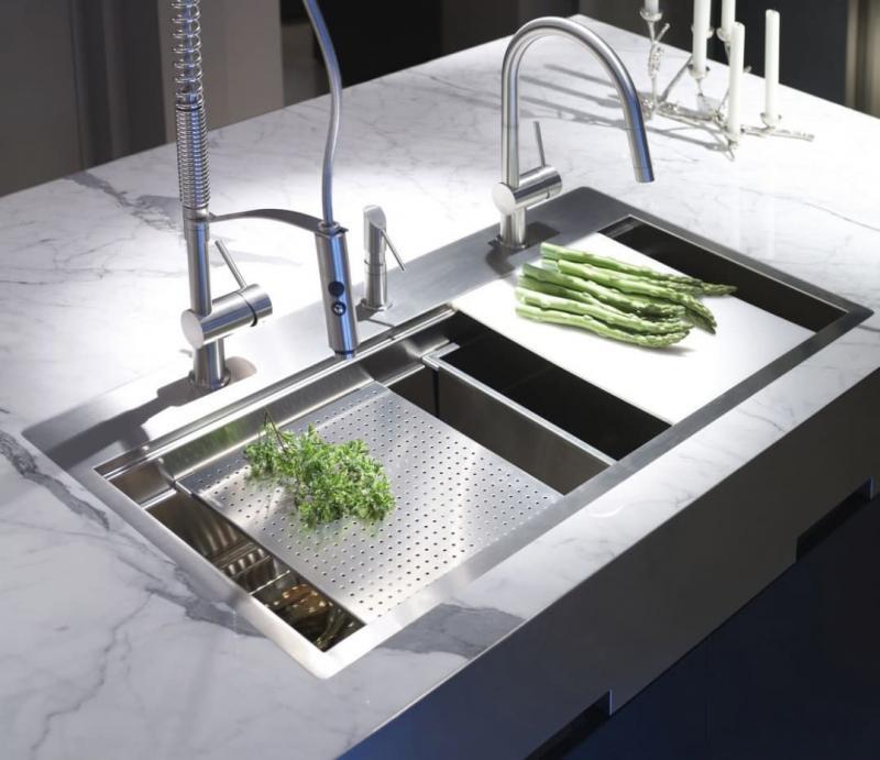 Раковины для кухни 2019 потайные 2