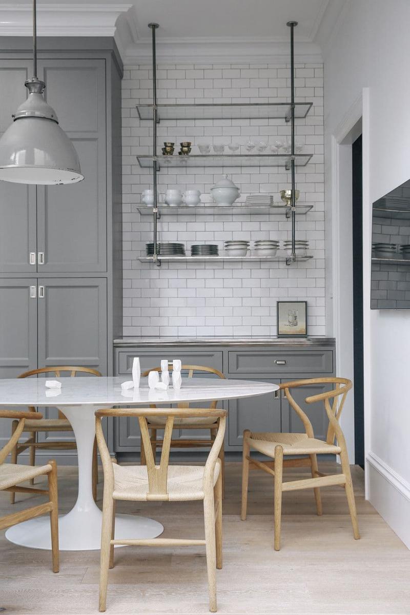 Стеллаж для кухни 2019 стеклянный 3