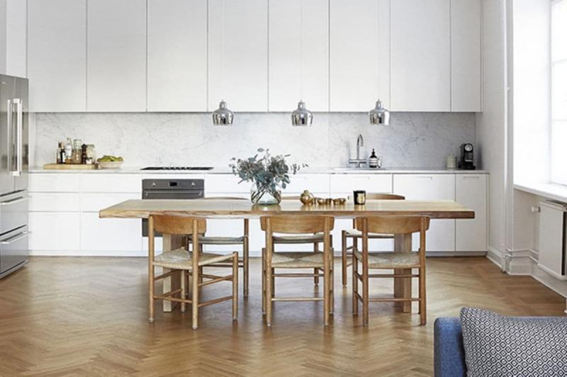 Стиль минимализм кухни 2019 1