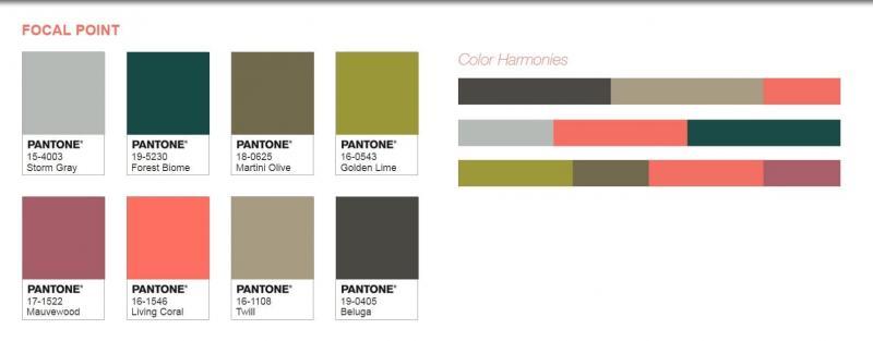 Цветовые палитры Pantone 1